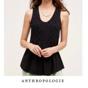 Anthropologie Deletta Black Weave Tank